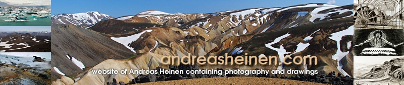 website of Andreas Heinen containing photography and drawings